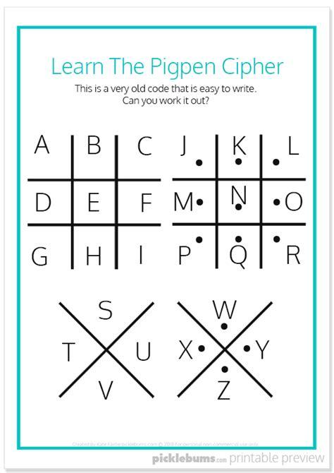 cool secret codes  kids  printables library