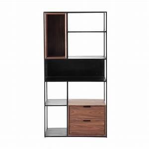 Regal Industrial Design : metallregal im industrial stil schwarz b 90 cm berkley ~ Michelbontemps.com Haus und Dekorationen