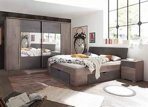 Schlafzimmer Komplett Set : schlafzimmer komplett set 4 teilig haveleiche g nstig ~ Watch28wear.com Haus und Dekorationen