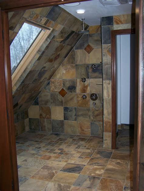 slate shower 1   Home Construction & Remodel Vancouver, WA