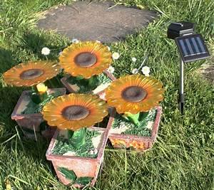 Gartenbeleuchtung Led Leuchten Garten : vier led solar au en leuchten blumen garten lampe ~ Michelbontemps.com Haus und Dekorationen