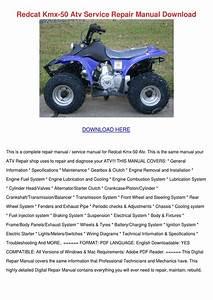 Redcat Kmx 50 Atv Service Repair Manual Downl By