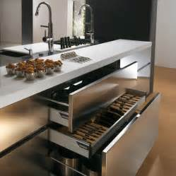 kitchen sink furniture contemporary stainless steel kitchen cabinets elektra plain steel by ernestomeda digsdigs