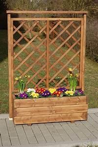 Blumenkasten Mit Rankgitter Holz : holz blumenkasten pflanzkasten mit rankgitter ge lt im farbtonteak ebay ~ Orissabook.com Haus und Dekorationen