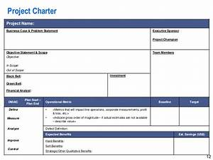 project charter example ppt driverlayer search engine With one page project charter template