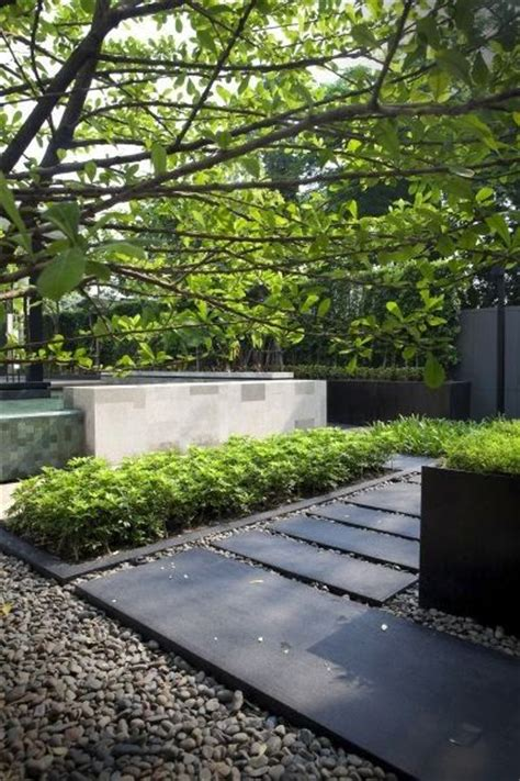 contemporary garden paving stained concrete stepping stones nice for the side yard with the pea gravel in between side