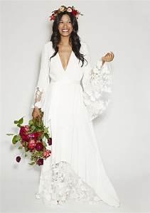 Robes De Mariée Bohème Chic : mari e boho chic hippie inspiration pour un mariage boh me mariage en 2019 robe mariee ~ Nature-et-papiers.com Idées de Décoration