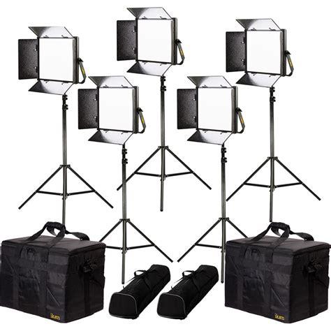 ikan lyra bi color 5 point led soft panel light kit lb10 5pt kit