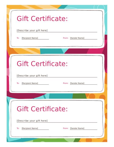 gift certificate form fillable printable