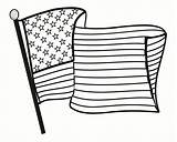 Coloring Flag American Pages Hard sketch template