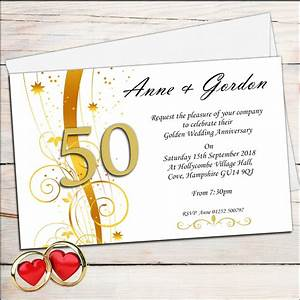 wedding invitation golden wedding anniversary With golden wedding anniversary invitations
