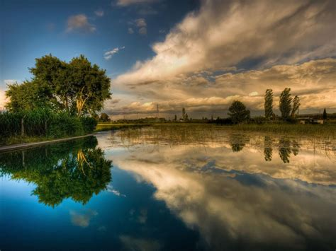 Desktop Backgrounds by Background Lake Sky Reflecting Hd Wallpaper 15903