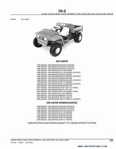 John Deere 4x2  6x4 Gas  Diesel Gator Utility Vehicle Parts Catalog
