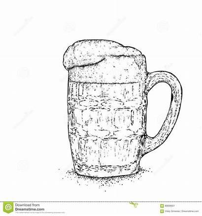 Cheers Vector Beer Mug Illustration