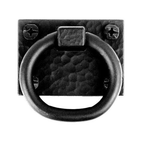 black ring pull cabinet handles acorn manufacturing smooth iron 1 3 8 inch diameter black