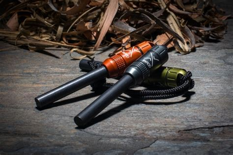 exotac firerod fire starter ferro rod  tinder capsule