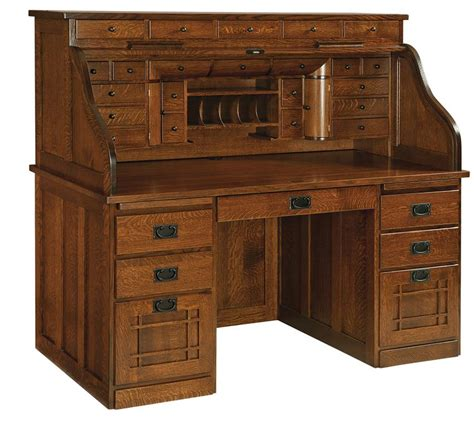 all wood desk for sale amish mission deluxe roll top desk