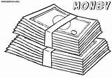 Money Coloring Pages Sheet Bill sketch template