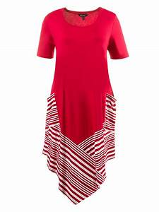 robe ulla popken rouge rayee 46 et plus With ulla popken robe