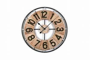 Horloge Murale Industrielle : horloge murale industrielle bois m tal d70cm emmas horloge design pas cher ~ Teatrodelosmanantiales.com Idées de Décoration