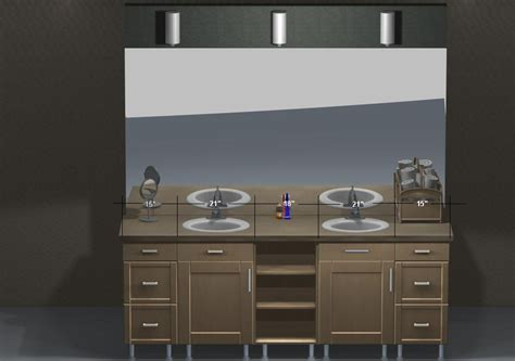 make bathroom vanity from kitchen cabinets ikea vanities a stylish look using stainless steel legs 9722