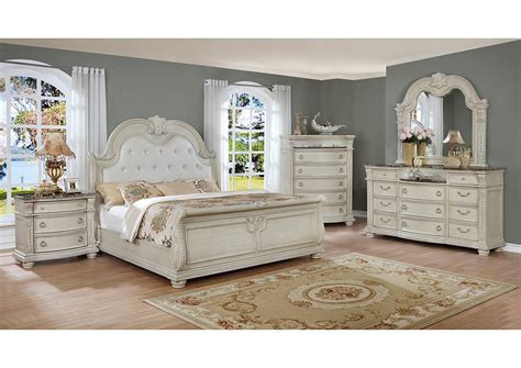 Antique White Bedroom Furniture by Stanley Antique White Bedroom Collection B160cm Casye