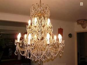Lustre Pampilles Cristal : lustre pampilles en verre et cristal lustre cristal ~ Teatrodelosmanantiales.com Idées de Décoration