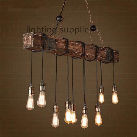 edison dining room lights loft style creative wooden droplight edison vintage