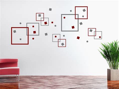 Kinderzimmer Wandgestaltung Quadrate by Wandtattoo Quadrate Mix Wandtattoo De