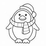 Penguin Coloring Pages Colouring Sheets Christmas sketch template