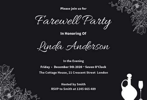 farewell party invitations jpg psd vector eps ai