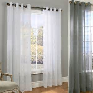 encore boucle semi sheer grommet curtain panels