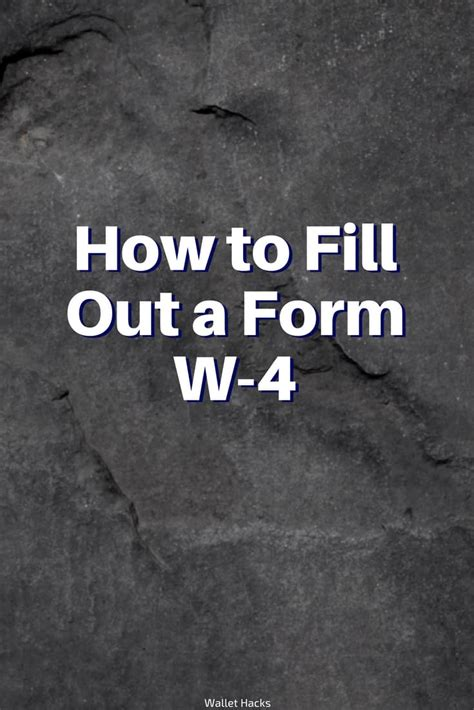 How To Fill Out W 4 Form For Dummies by How To Fill Out A Form W 4 2018 Edition