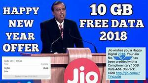 [10 GB EXTRA DATA FREE] Relince Jio 2018 Happy New Year ...