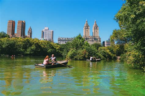 Central Park Lake Boat Rental by Boating In Central Park New York Luggage Only