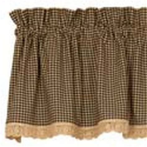 new black gingham check curtain window valance swag