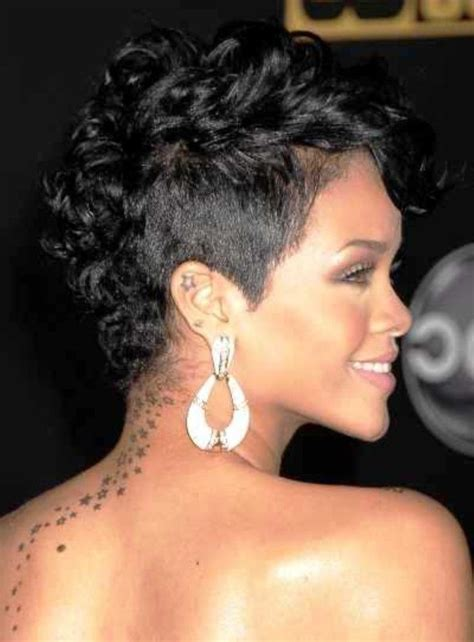 curly short mohawk hairstyles  black women short