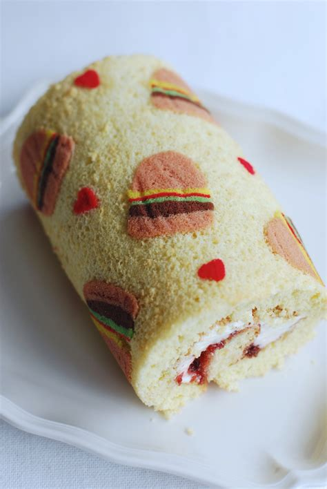burger print swiss roll afternoon crumbs