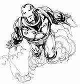 Iron Coloring Flying Jet Fast 062a Printable Mark Marvel Avengers Spiderman Netart sketch template