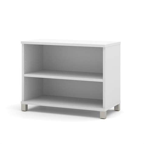 white two shelf bestar pro linea 2 shelf bookcase in white 120160 1117