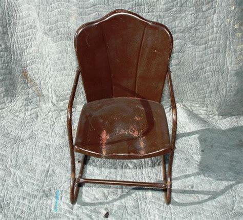metal lawn chair child size vintage 1940 s 1950 s