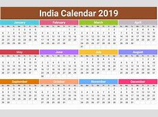 Free Printable Calendar Templates 2019 with Indian Holiday