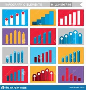 Colorful Infographic Elements Charts  Graph  Diagram  Etc
