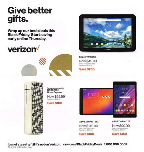 verizon smartphone deals black friday 2016 deals from verizon here are the details