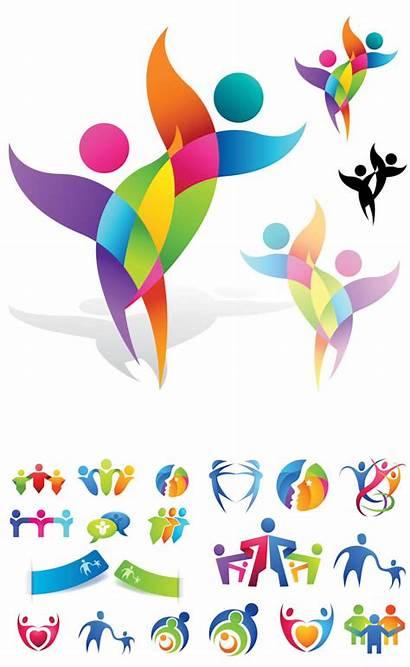 Vector Abstract Logos Logotypes Human Graphics Templates