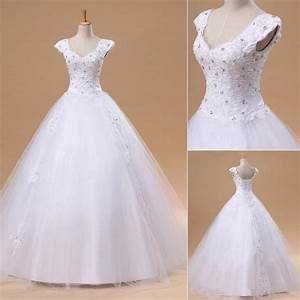 elegant white lace puffy wedding dress new arrival floor With wedding dresses not puffy