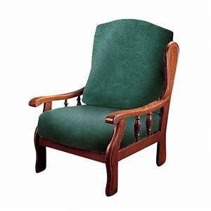 housse extensible pour siege rustique polyester et coton With nettoyage tapis avec housse fauteuil et canapé