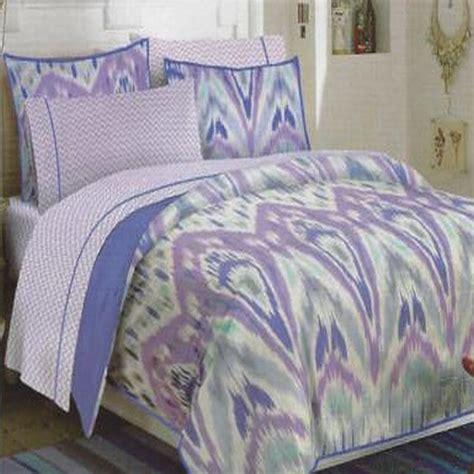 teen vogue ikat stripe 3 piece full queen comforter