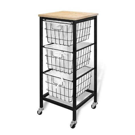 storage cart with drawers honey can do craft storage cart with 3 drawers crt 06345