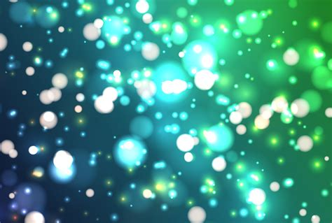 Colorful realistic glitter shines with bokeh, vector ...
